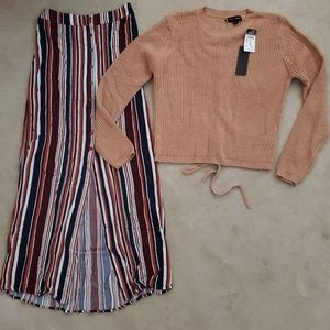 NWT. Rue 21 Sweater And Maxi Skirt Outfit. MEDIUM.